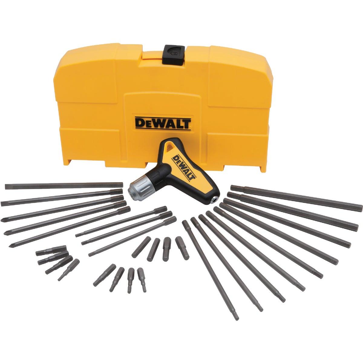DeWalt 31-Piece Ratcheting T-Handle Hex Key Set
