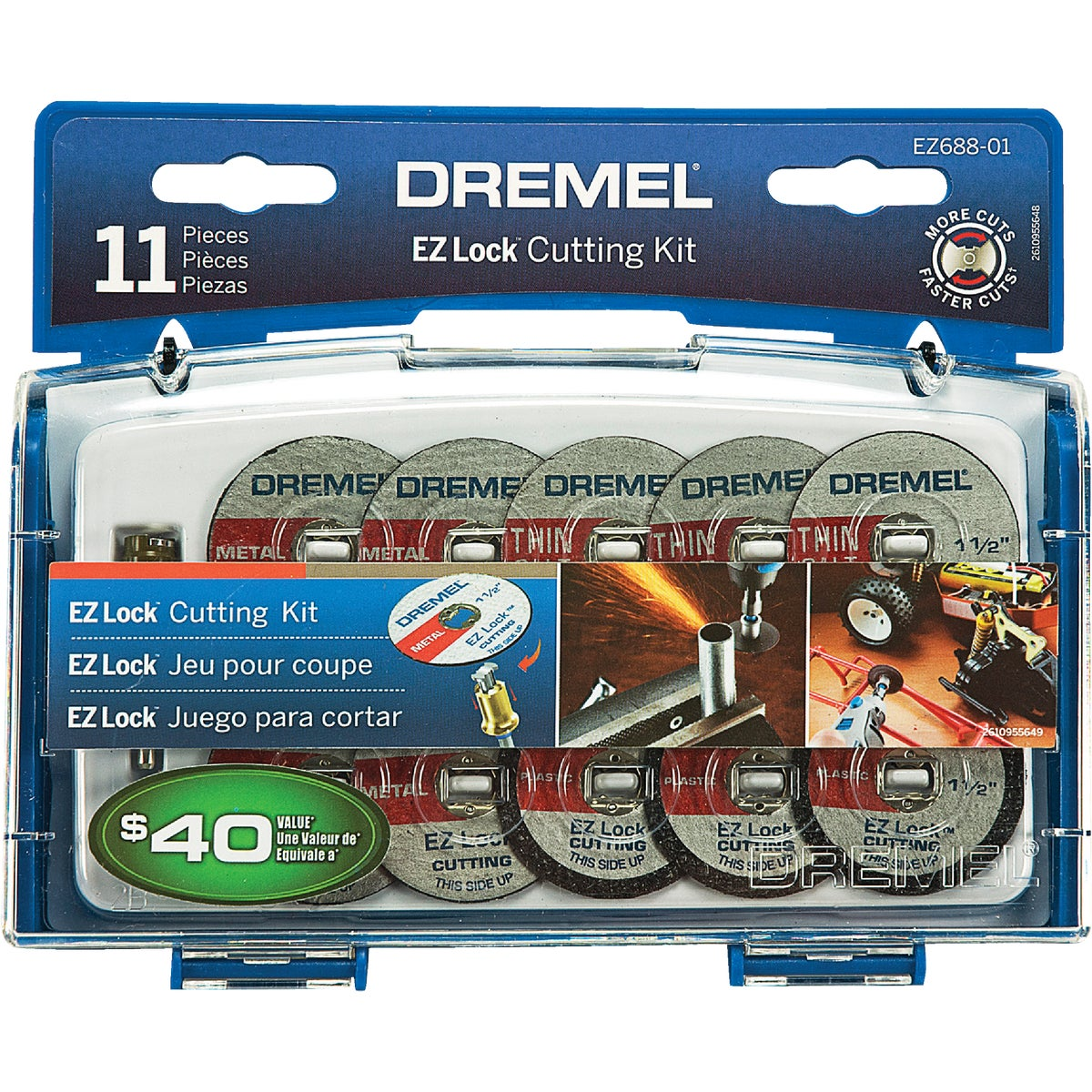 EZ LOCK MINI CUTTING KIT - EZ688-01 by Dremel Mfg Co