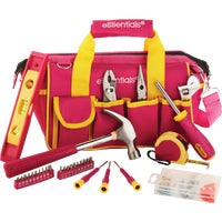 32Pc Pink Tool Bag