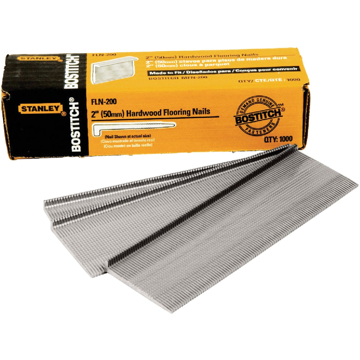 "2"" HARDWOOD FLOOR CLEAT - FLN-200 by Stanley Bostitch"