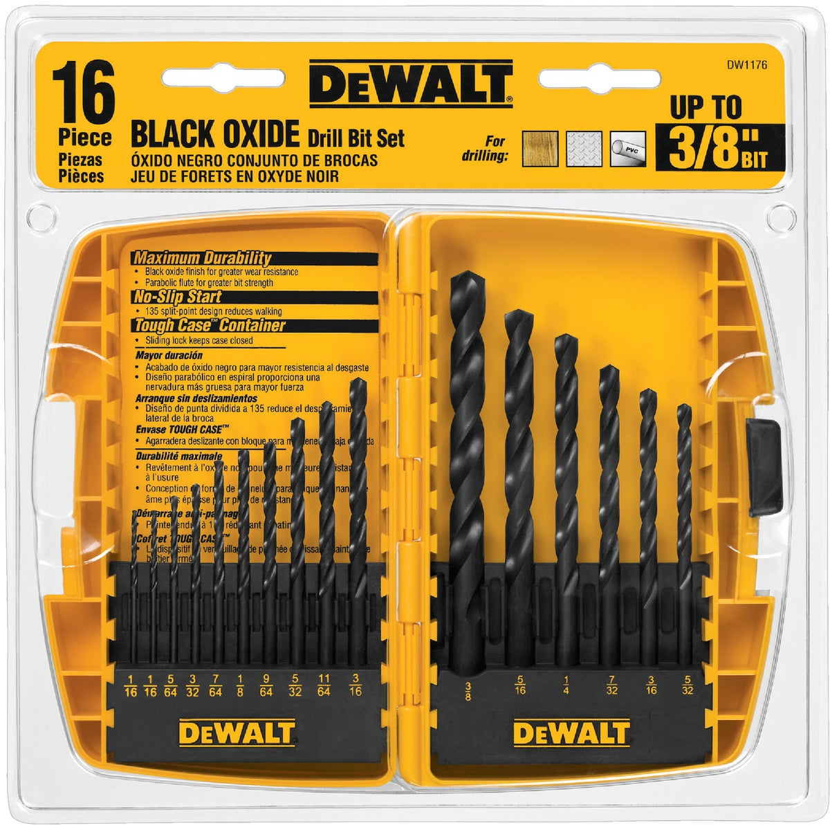16PC BLK OXIDE BIT SET - DW1176 by DeWalt
