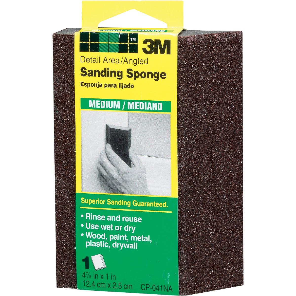 3M Angled Detail Area All-Purpose 2-7/8 In. x 4-7/8 In. x 1 In. Medium Sanding Sponge