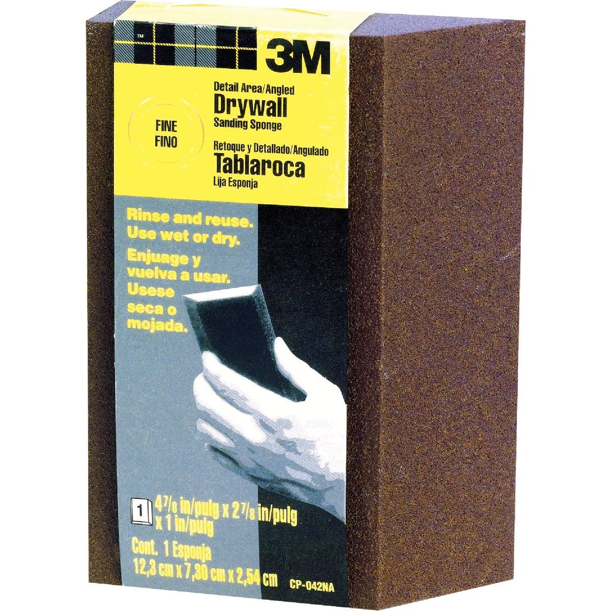 3M Angled Detail Area Drywall 2-7/8 In. x 4-7/8 In. x 1 In. Fine Sanding Sponge