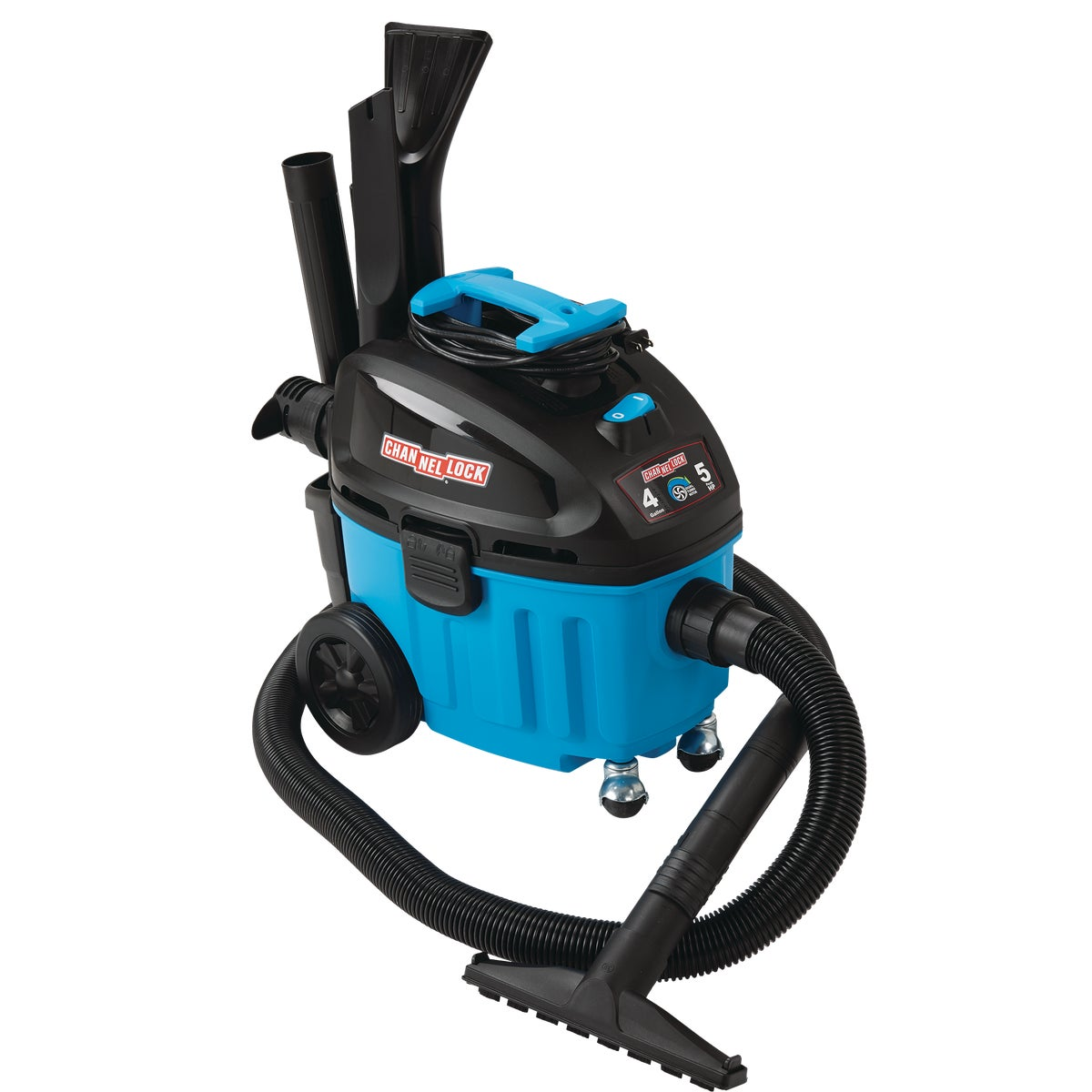 Channellock 4 Gal. Contractor Wet/Dry Vacuum, VE410P.CL