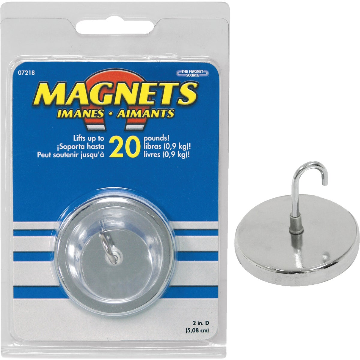 "2"" HANDI-HOOK MAGNET - 7218 by Master Magnetics"