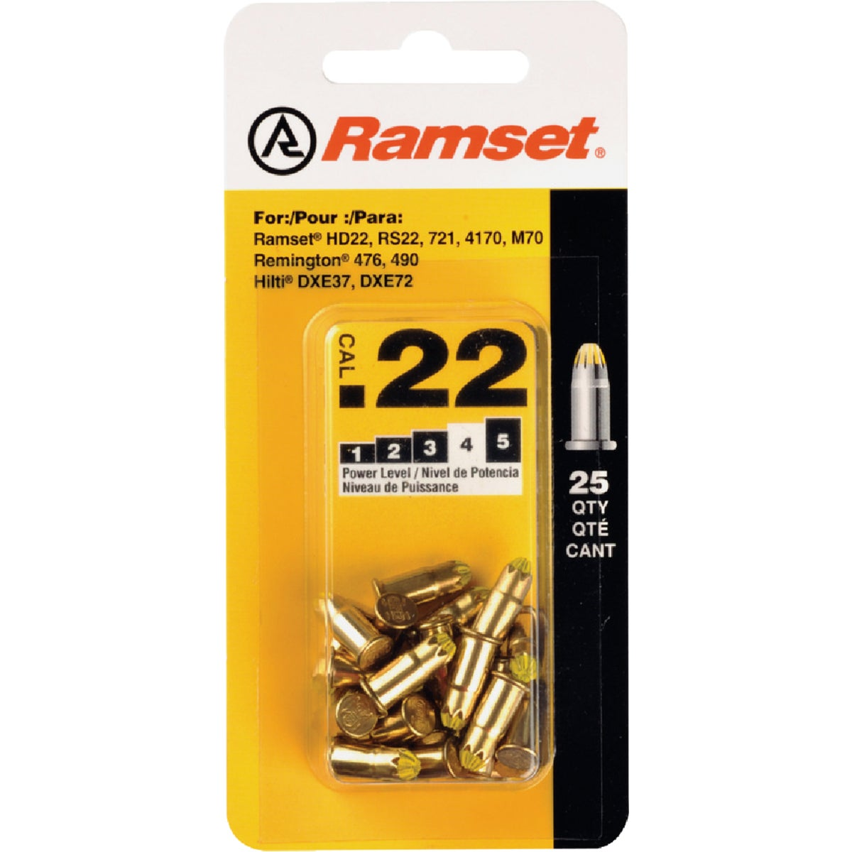 25PK .22 YELLOW LOADS