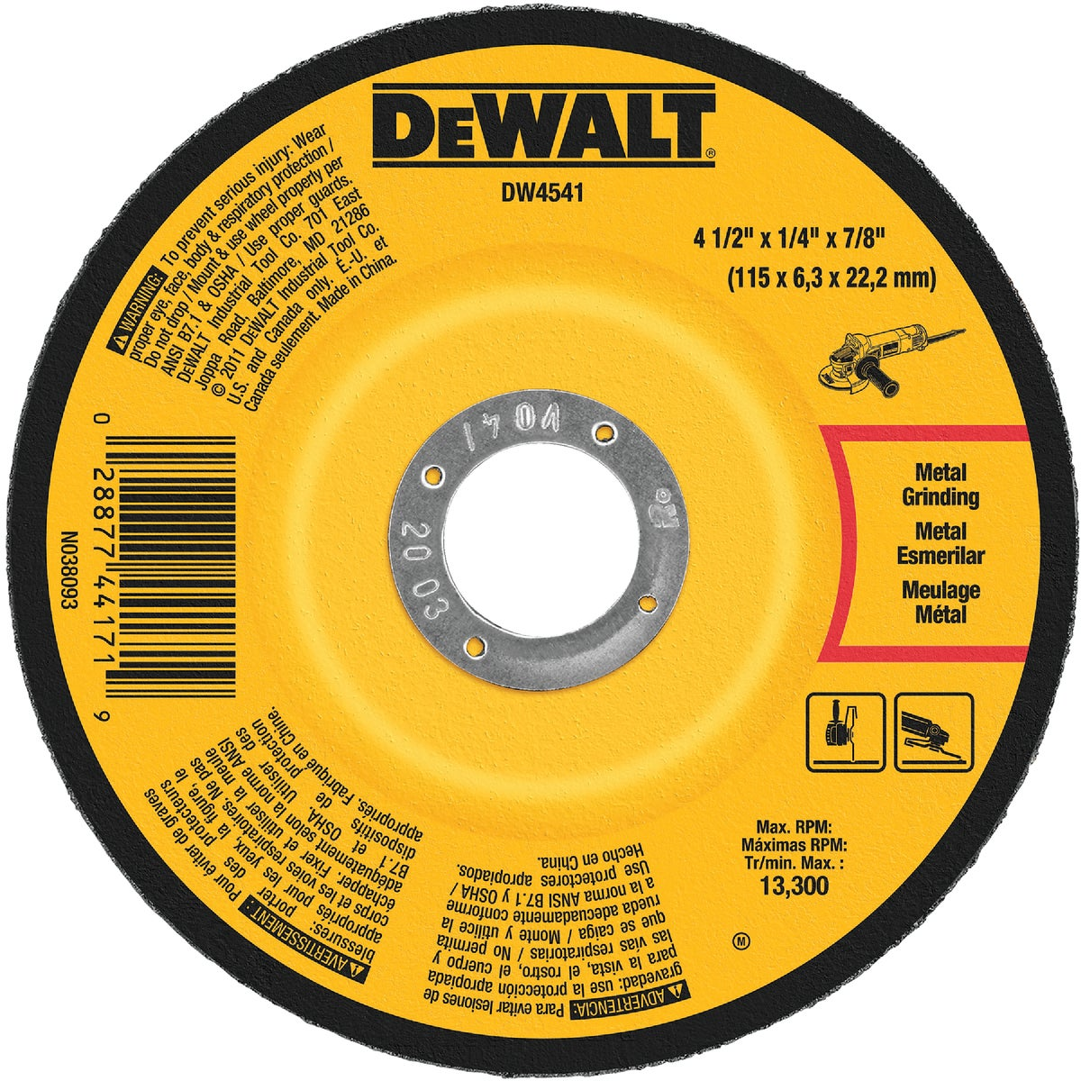 "4-1/2"" ABRASIVE WHEEL - DW4541 by DeWalt"