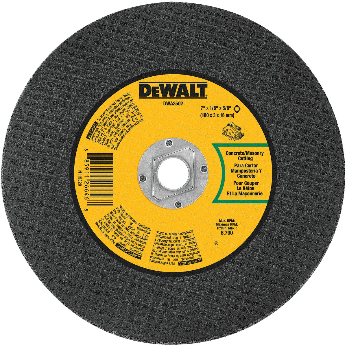 "7"" MASON ABRASIVE WHEEL - DWA3502 by DeWalt"