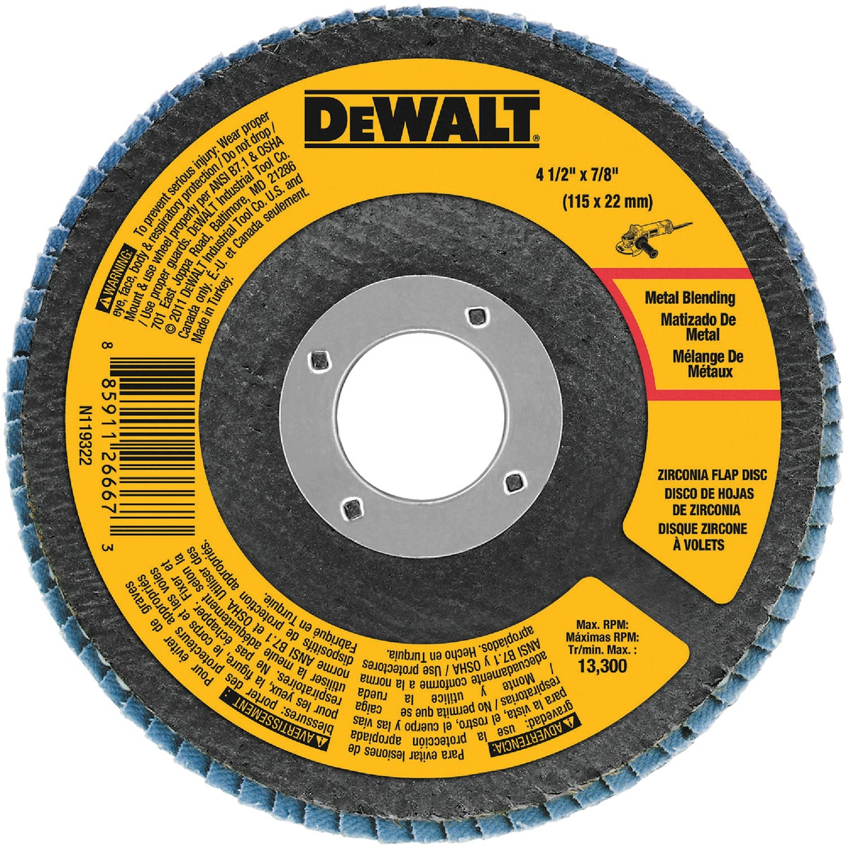 "4-1/2"" 80 GRIT FLAP DISC"