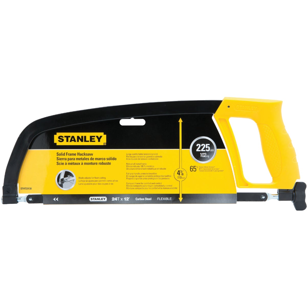 "12"" SOLID FRAME HACKSAW - STHT20138 by Stanley Tools"