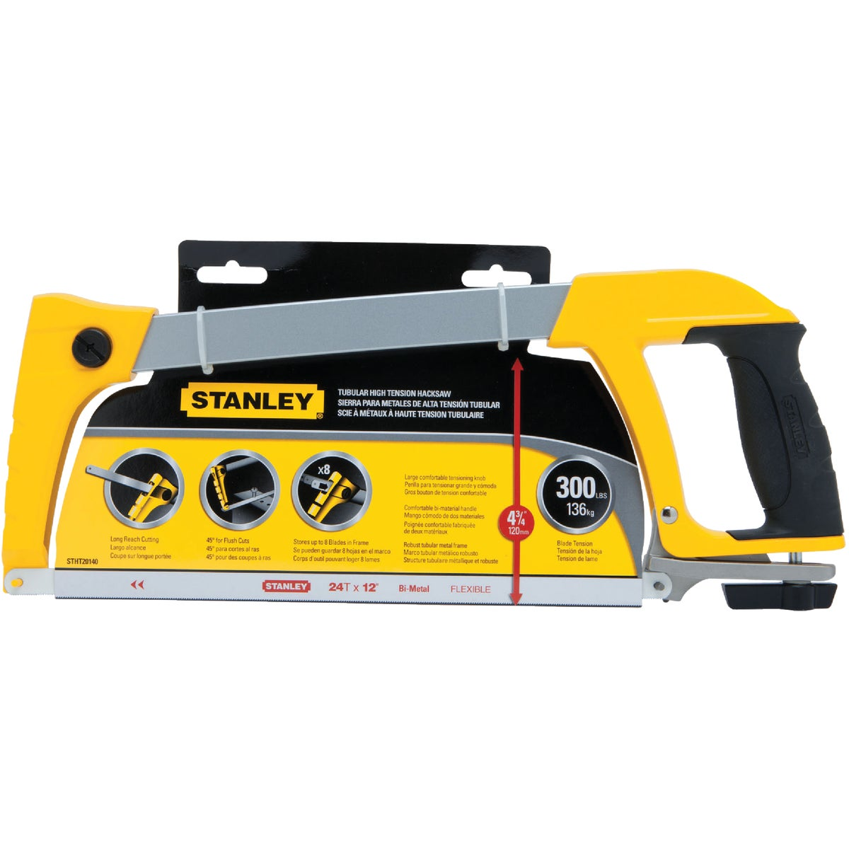 "12"" HIGH TENSION HACKSAW - STHT20140 by Stanley Tools"