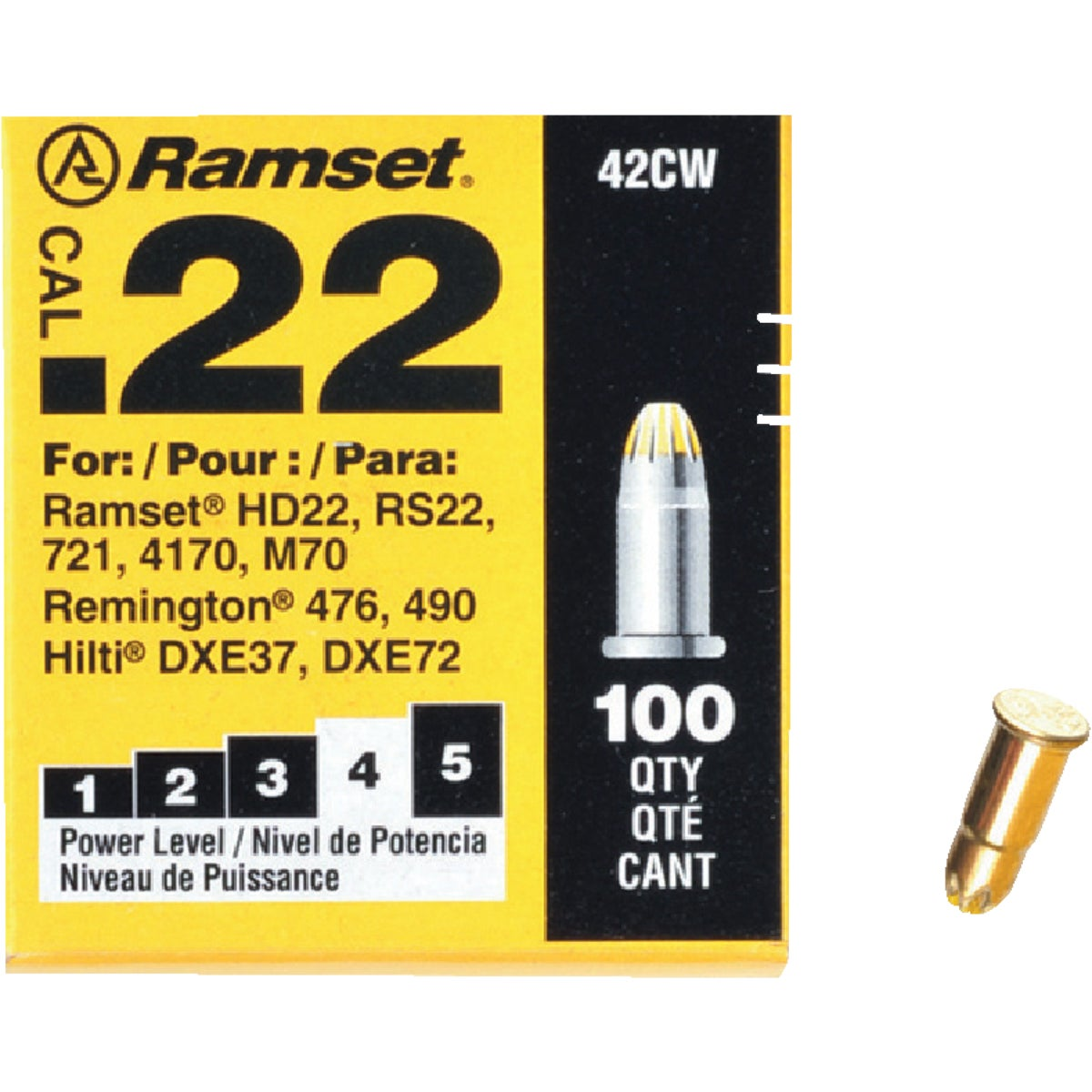 ITW Brands 100PK .22 YELLOW LOADS 607