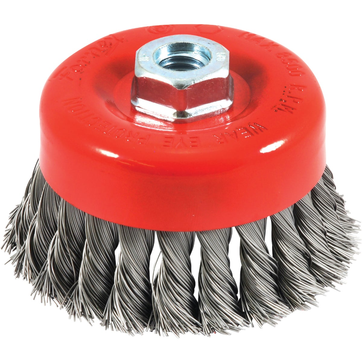 """4"""" KNOTTED CUP BRUSH - 72753 by Forney Industries"""