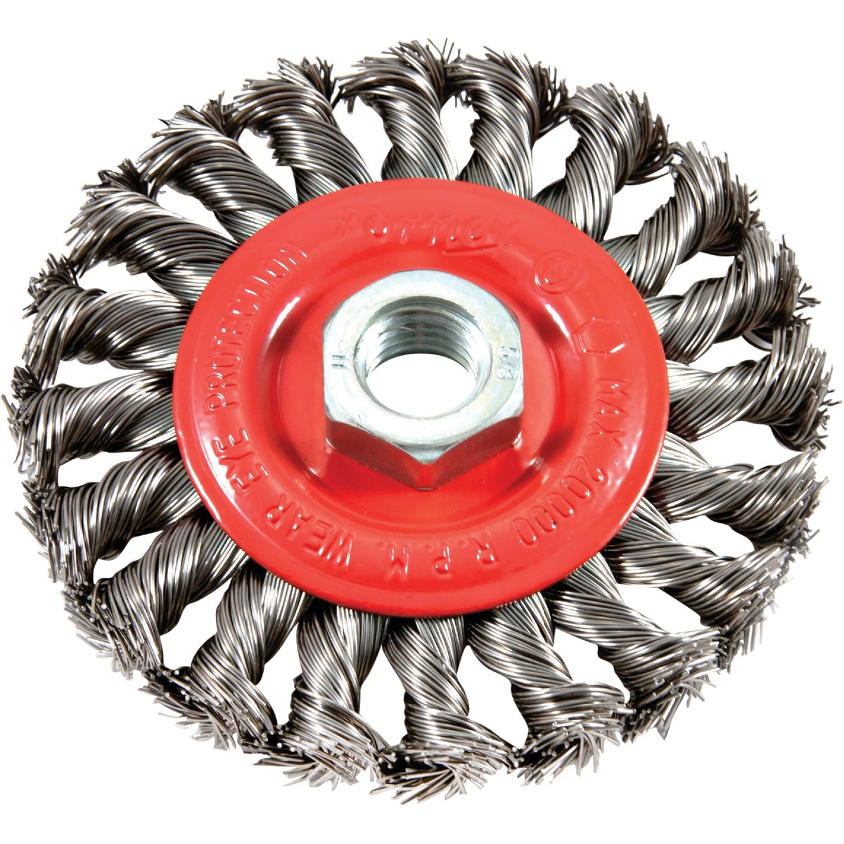 "4"" TWIST KNOT WIRE WHEEL - 72759 by Forney Industries"