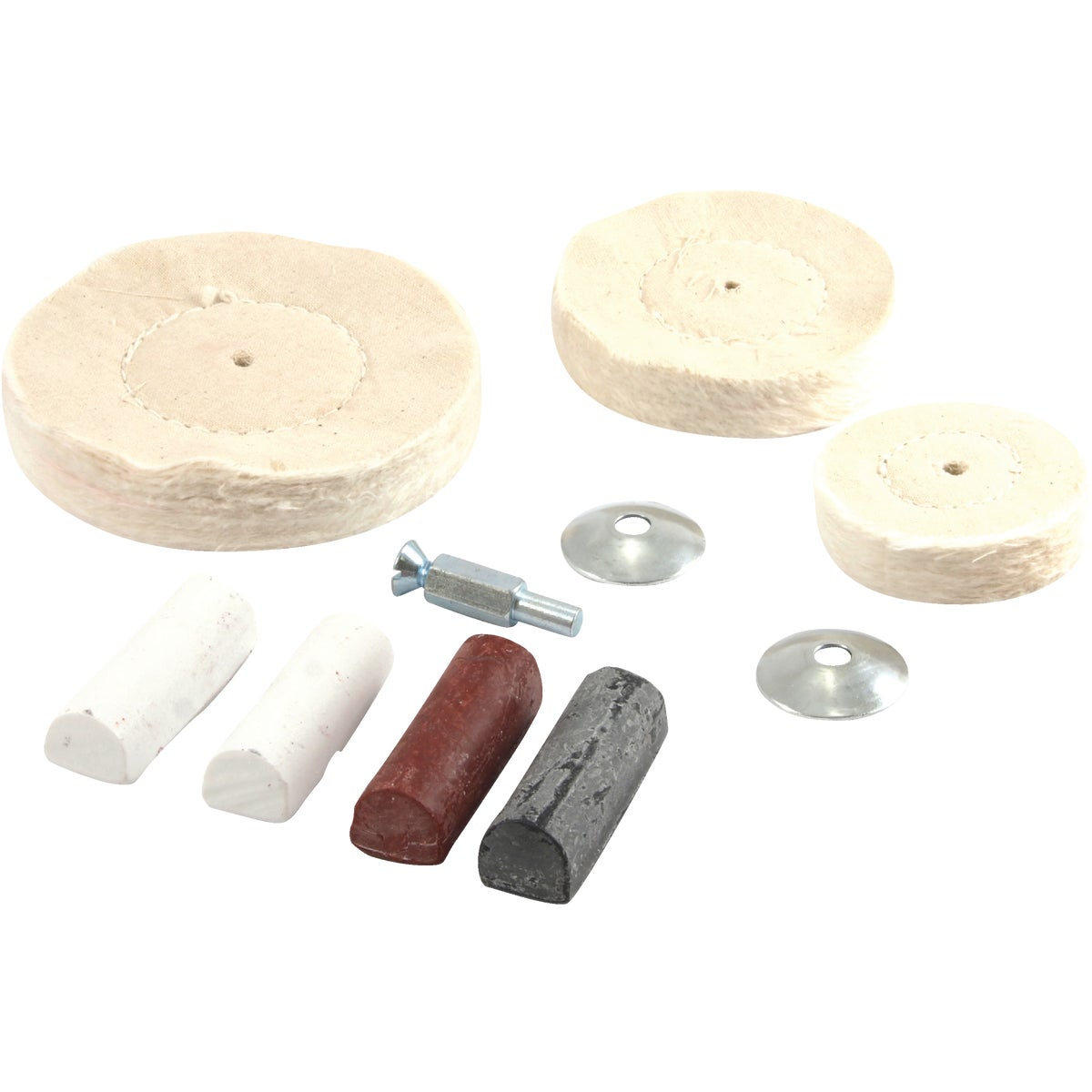DRILL MTD BUFFING KIT - 72111 by Forney Industries
