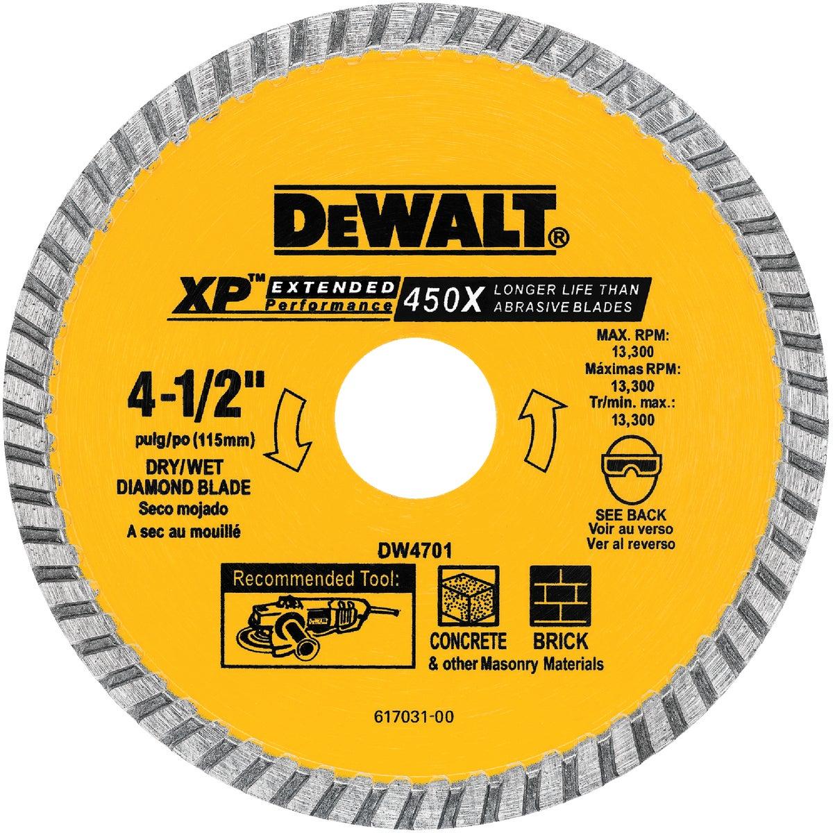 4-1/2 DRY CUT DIAM WHEEL - DW4701 by DeWalt