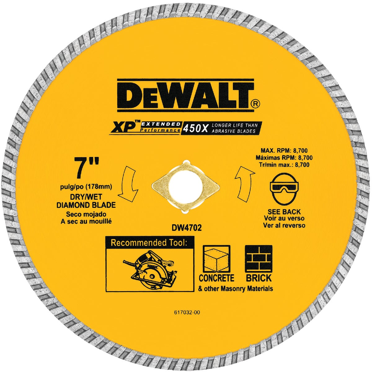 "7"" DRY CUT DIAMOND WHEEL - DW4702 by DeWalt"