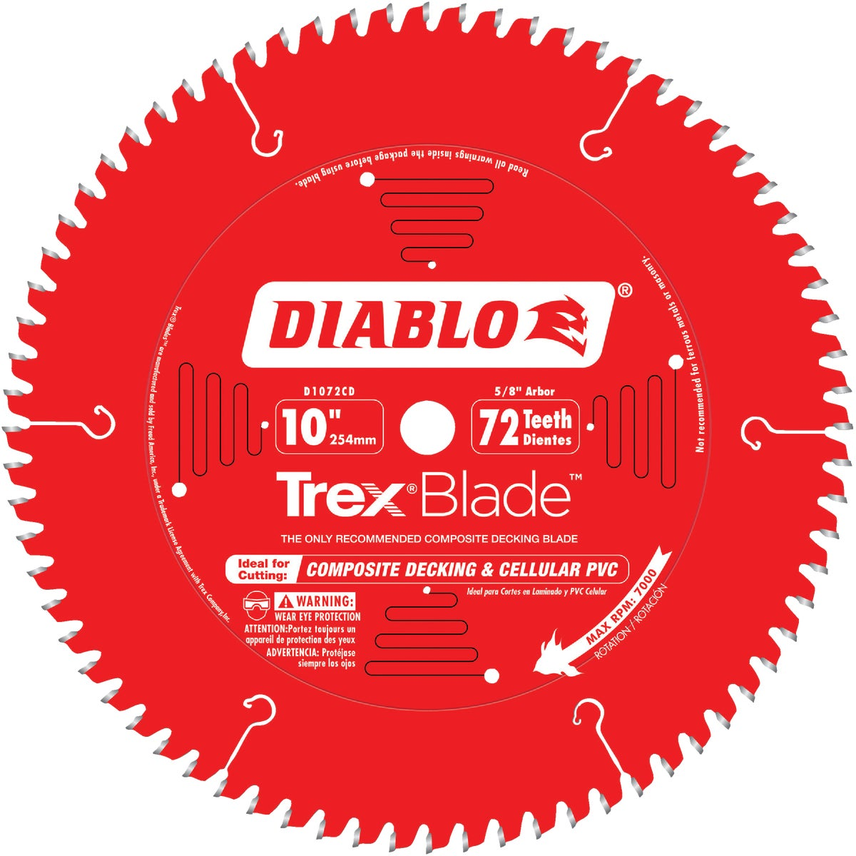 "10"" 72T COMP DECK BLADE - D1072CD by Freud Inc"