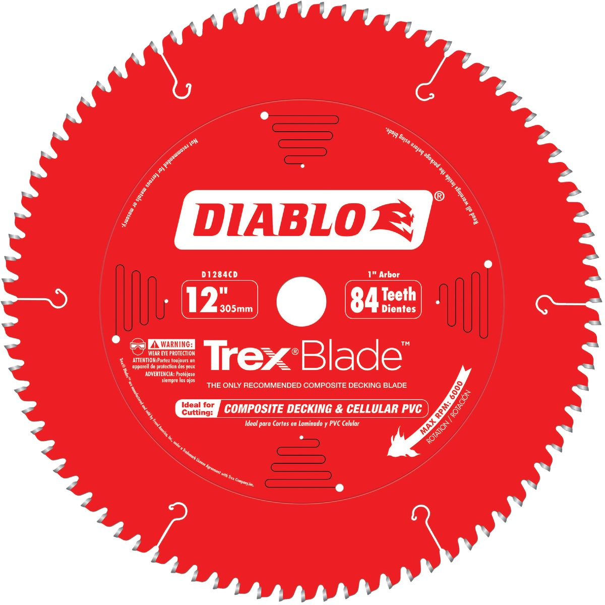 "12"" 84T COMP DECK BLADE - D1284CD by Freud Inc"
