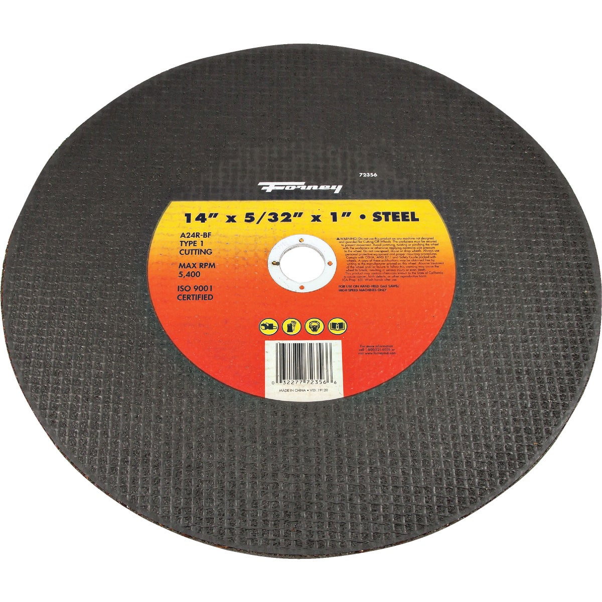 14X5/32X1 CUTTING WHEEL - 72356 by Forney Industries