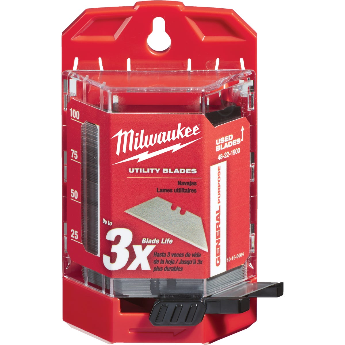 100PC UTILITY BLADE - 48-22-1900 by Milwaukee Elec Tool