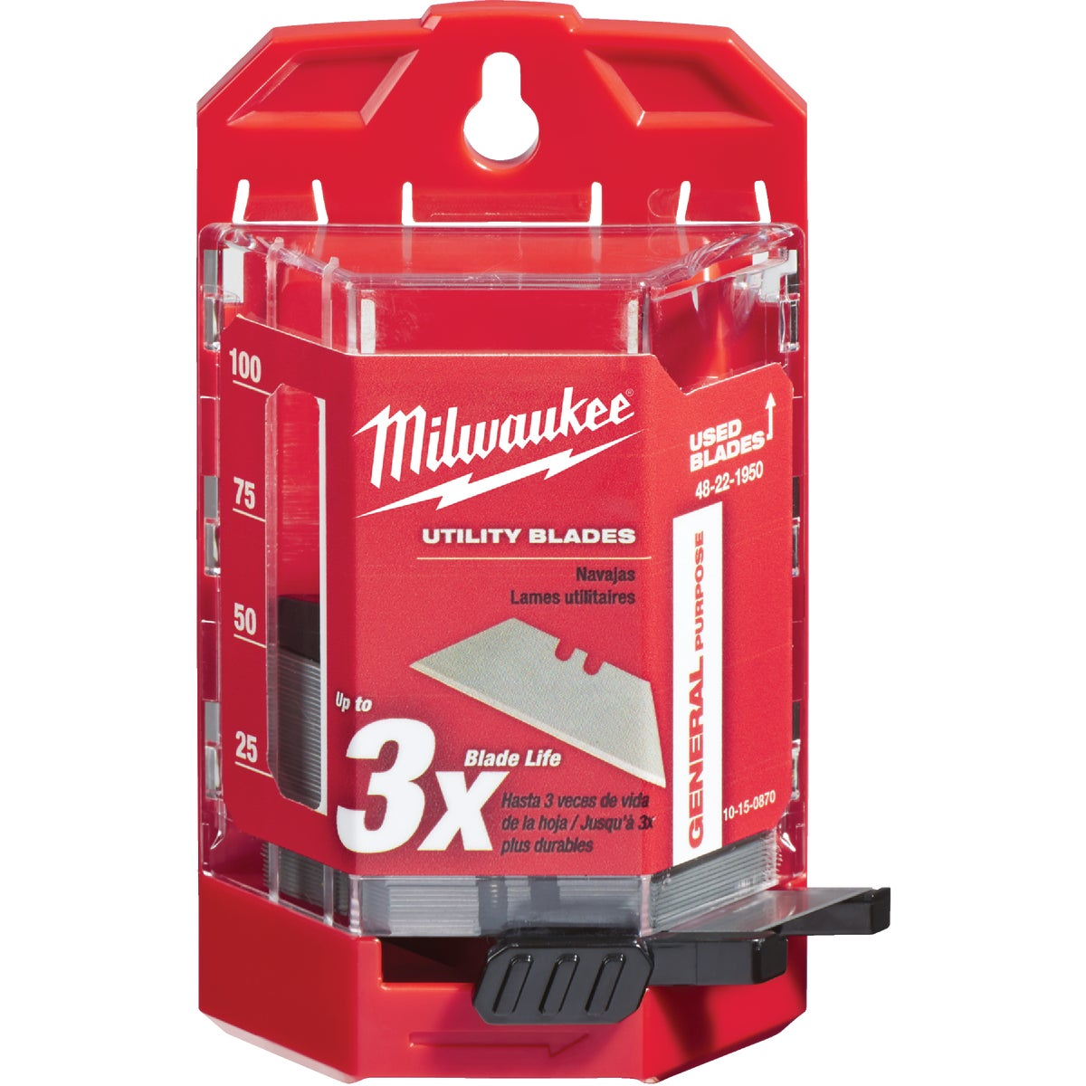 50PC GEN UTILITY BLADE - 48-22-1950 by Milwaukee Elec Tool