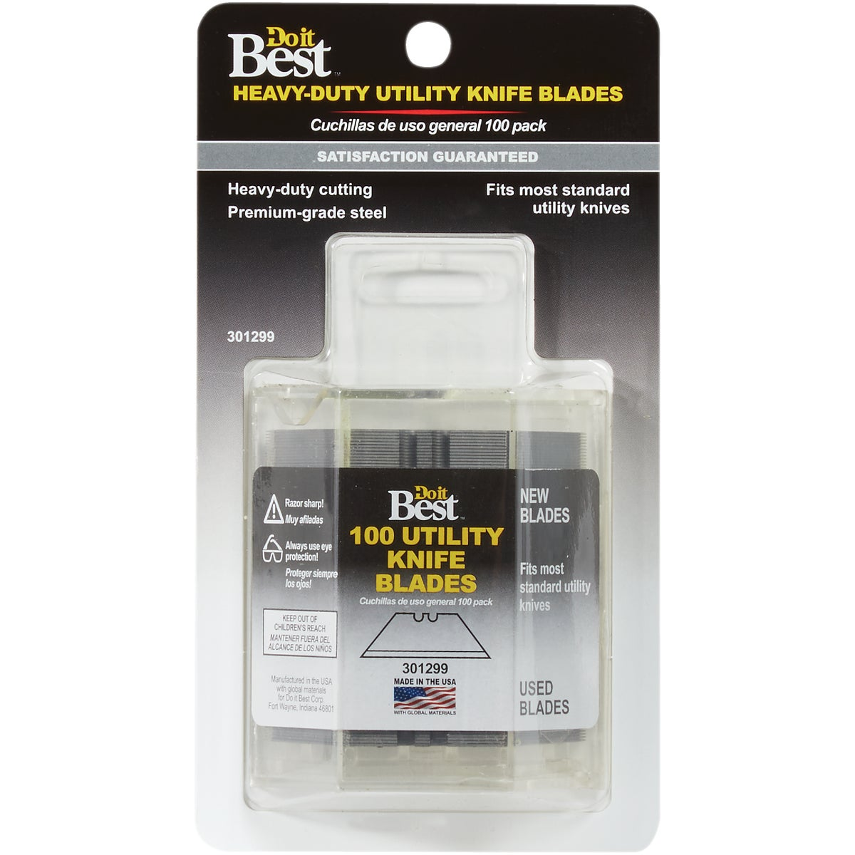 100PK UTILITY BLADES - 301299 by Do it Best