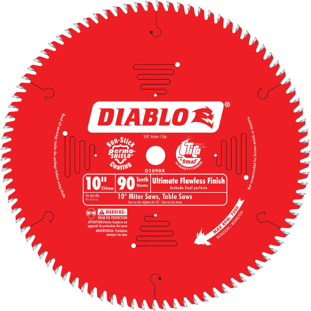 "10"" X 90T SAW BLADE - D1090X by Freud Inc"