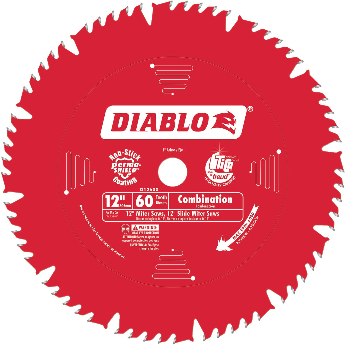 "12"" X 60T SAW BLADE - D1260X by Freud Inc"
