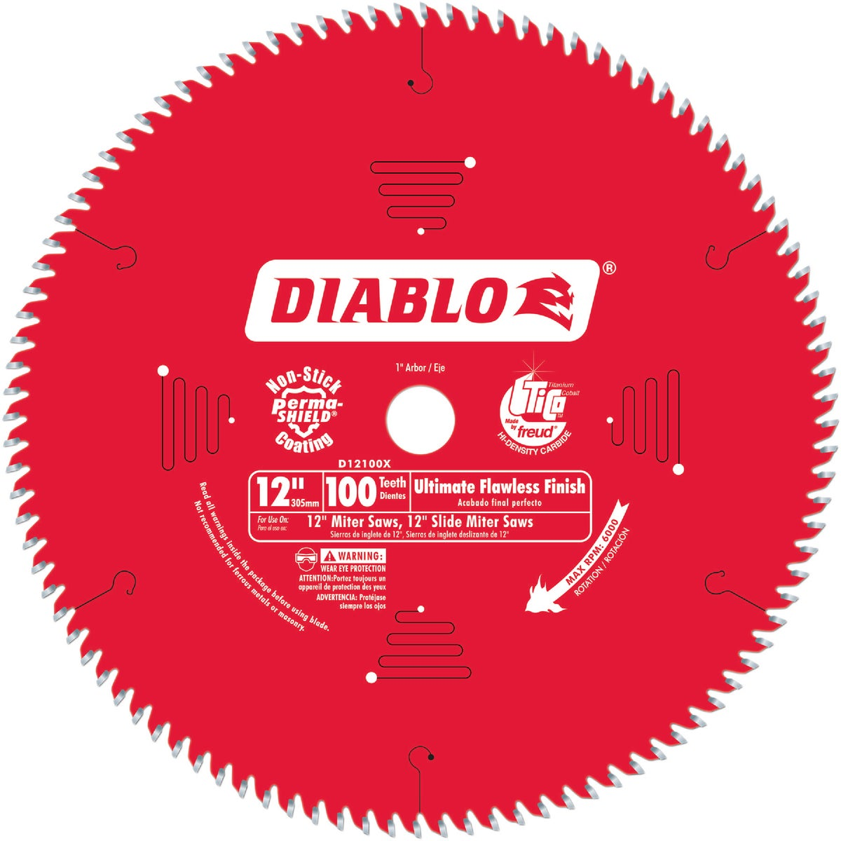 "12"" X 100T SAW BLADE - D12100X by Freud Inc"