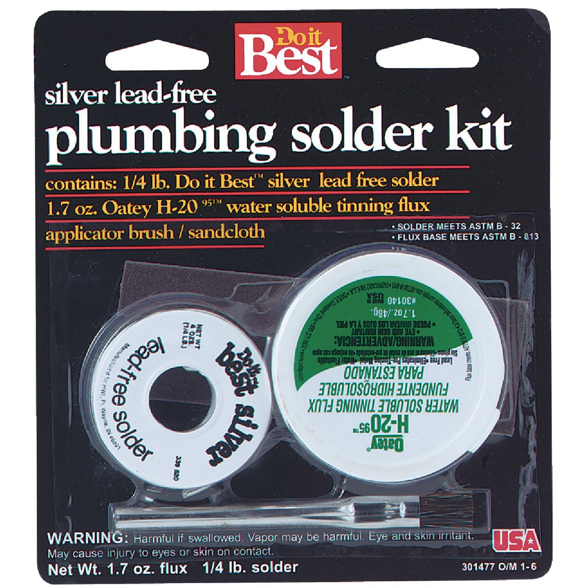 Do it Best H-2095 Flux/Plumbing Solder Kit