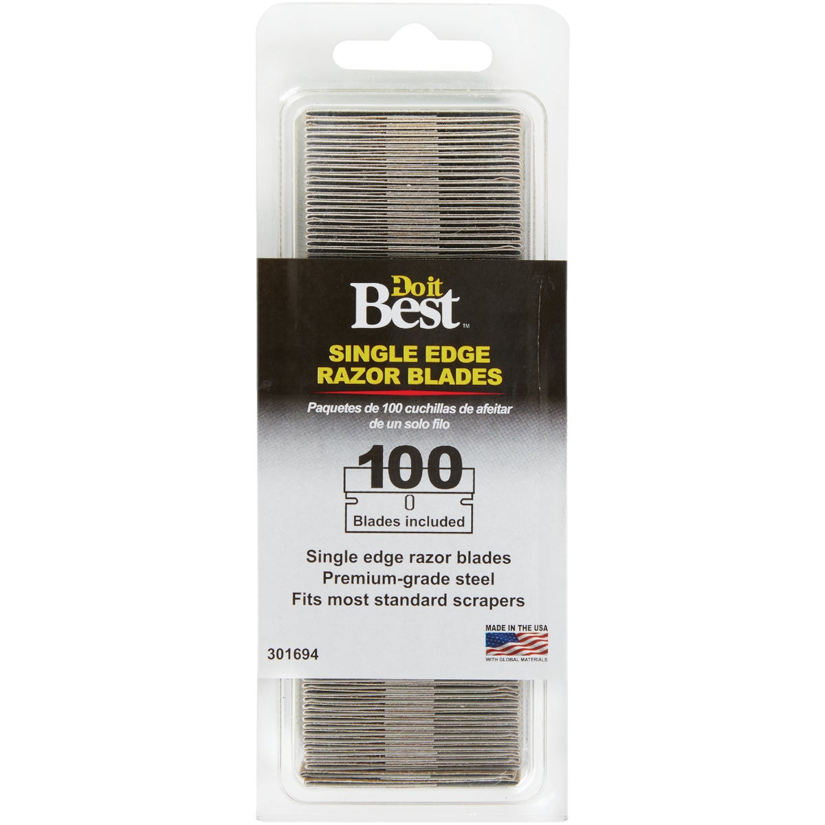 100PK RAZOR BLADE - 301694 by Do it Best