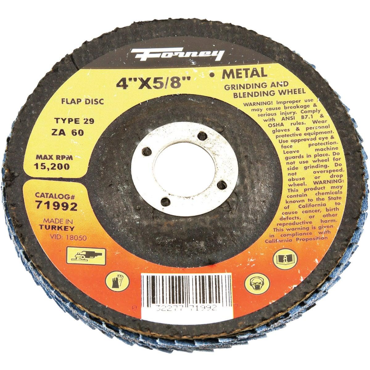 60G BLUE ZIR FLAP DISC