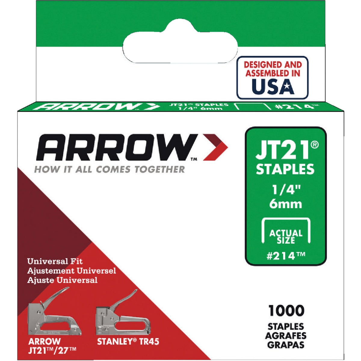 "1/4"" STAPLE - 214 by Arrow Fastener Co"