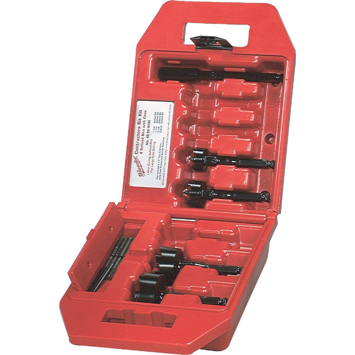 4PC SELF-FEED BIT SET