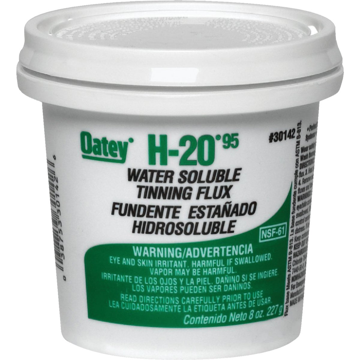 8OZ WATER SOLUBLE FLUX - 30142 by Oatey S C S