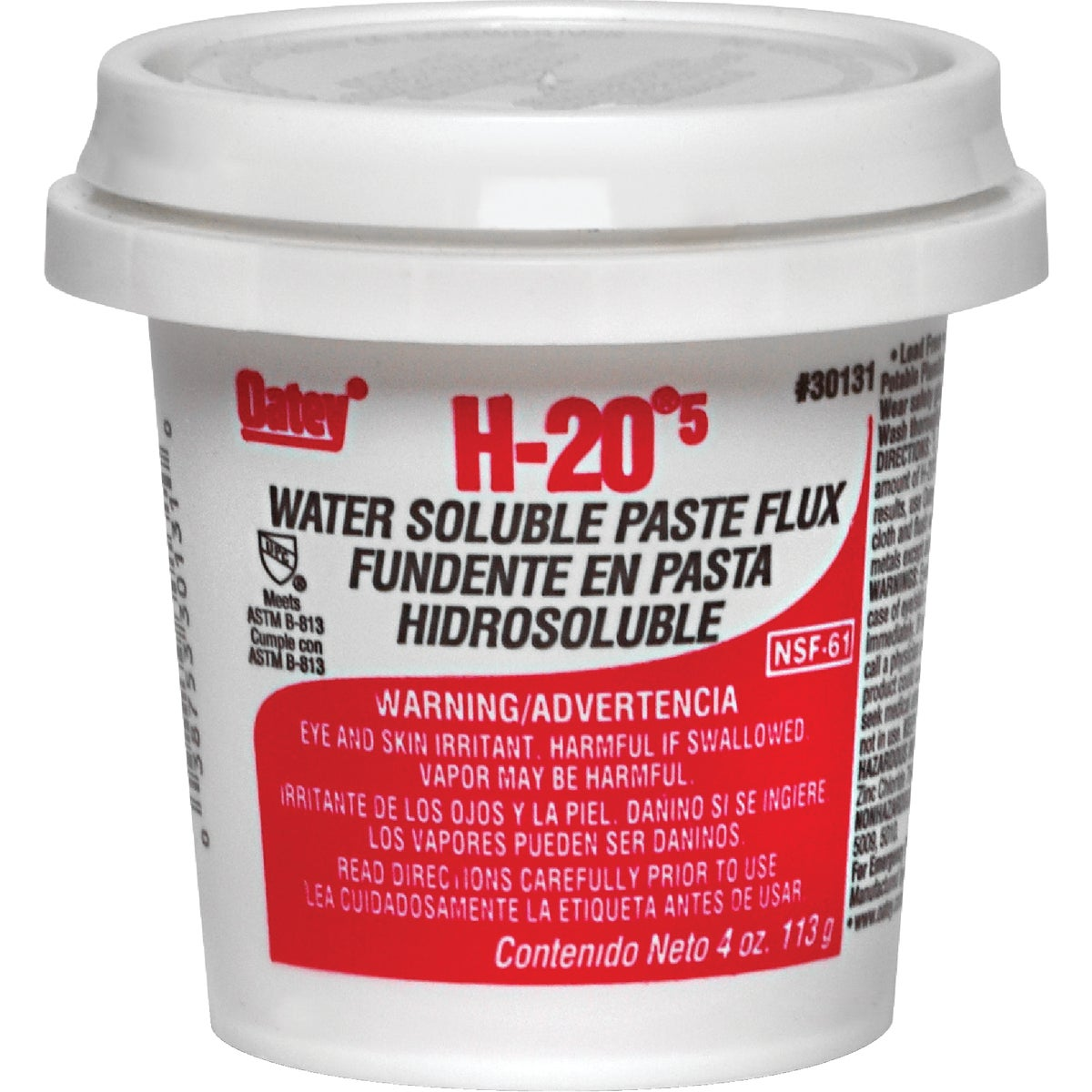 8OZ WATER SOLUBLE FLUX - 30132 by Oatey S C S