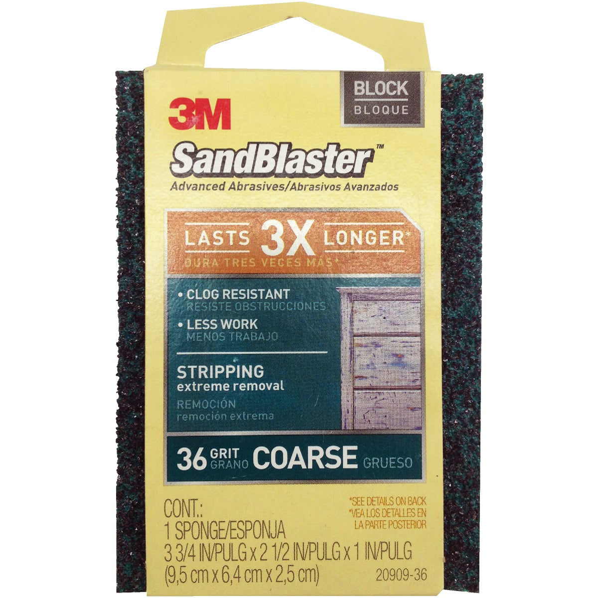 PAINT STRIPPING SPONGE - 20909-36 by 3m Co
