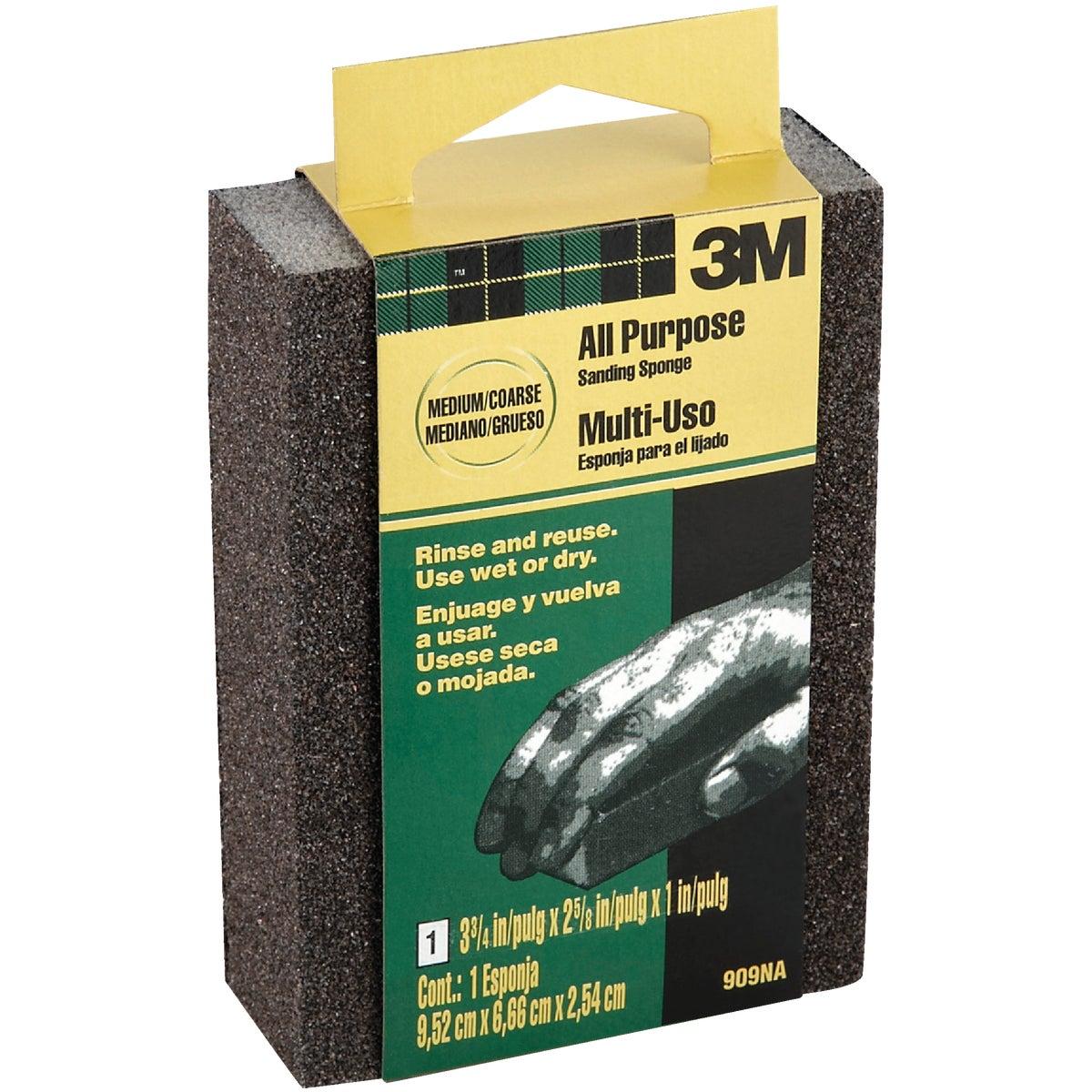 3M All-Purpose 2-5/8 In. x 3-3/4 In. x 1 In. Medium/Coarse Sanding Sponge