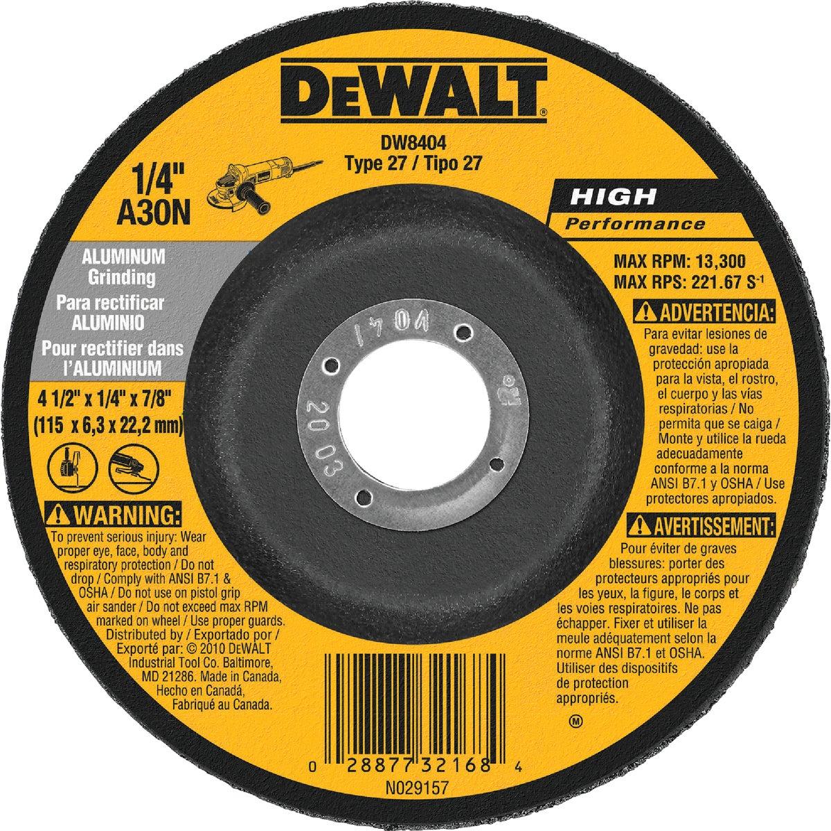 """4-1/2"""" GRINDING WHEEL - DW8404 by DeWalt"""