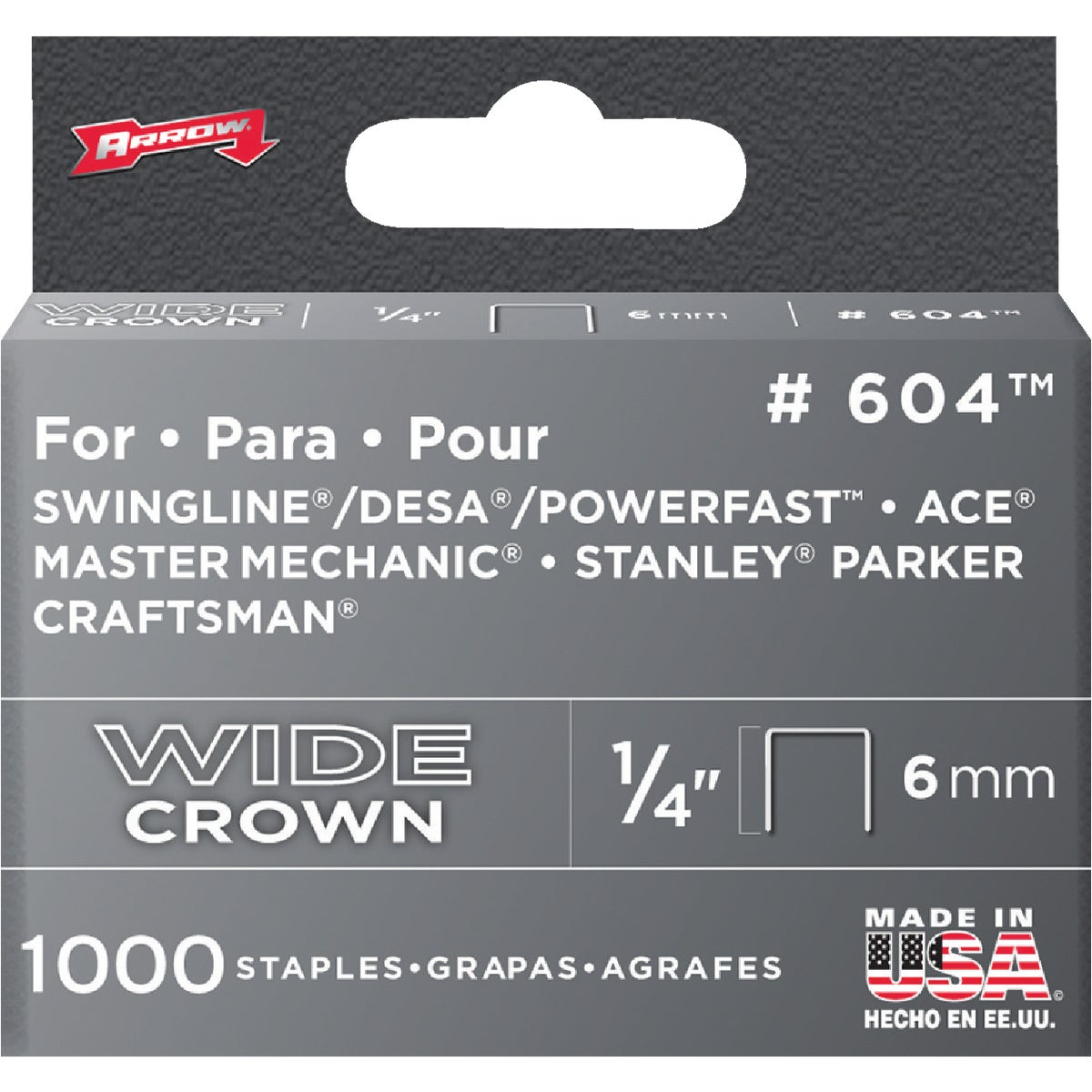 "1/4"" H/DUTY STAPLE - 60430 by Arrow Fastener Co"