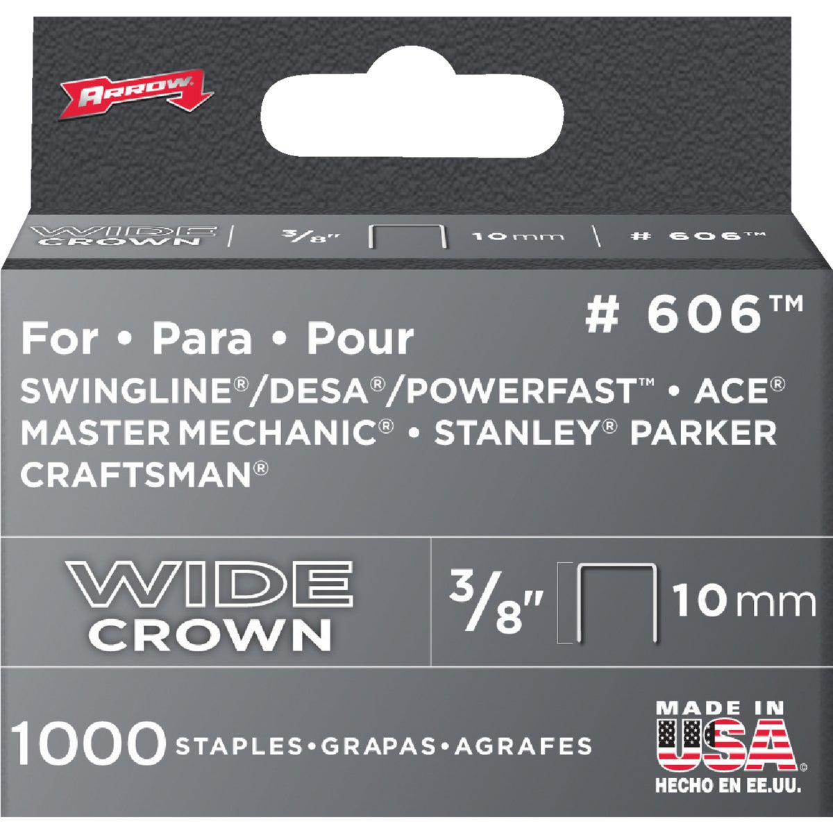 "3/8"" H/DUTY STAPLE - 60630 by Arrow Fastener Co"