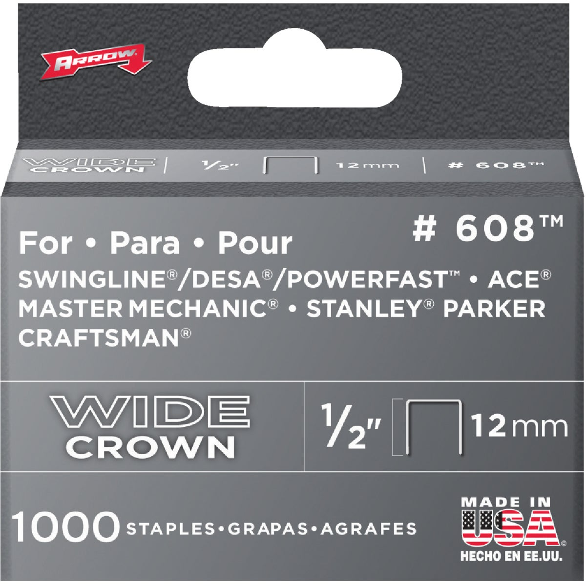 "1/2"" H/DUTY STAPLE - 60830 by Arrow Fastener Co"