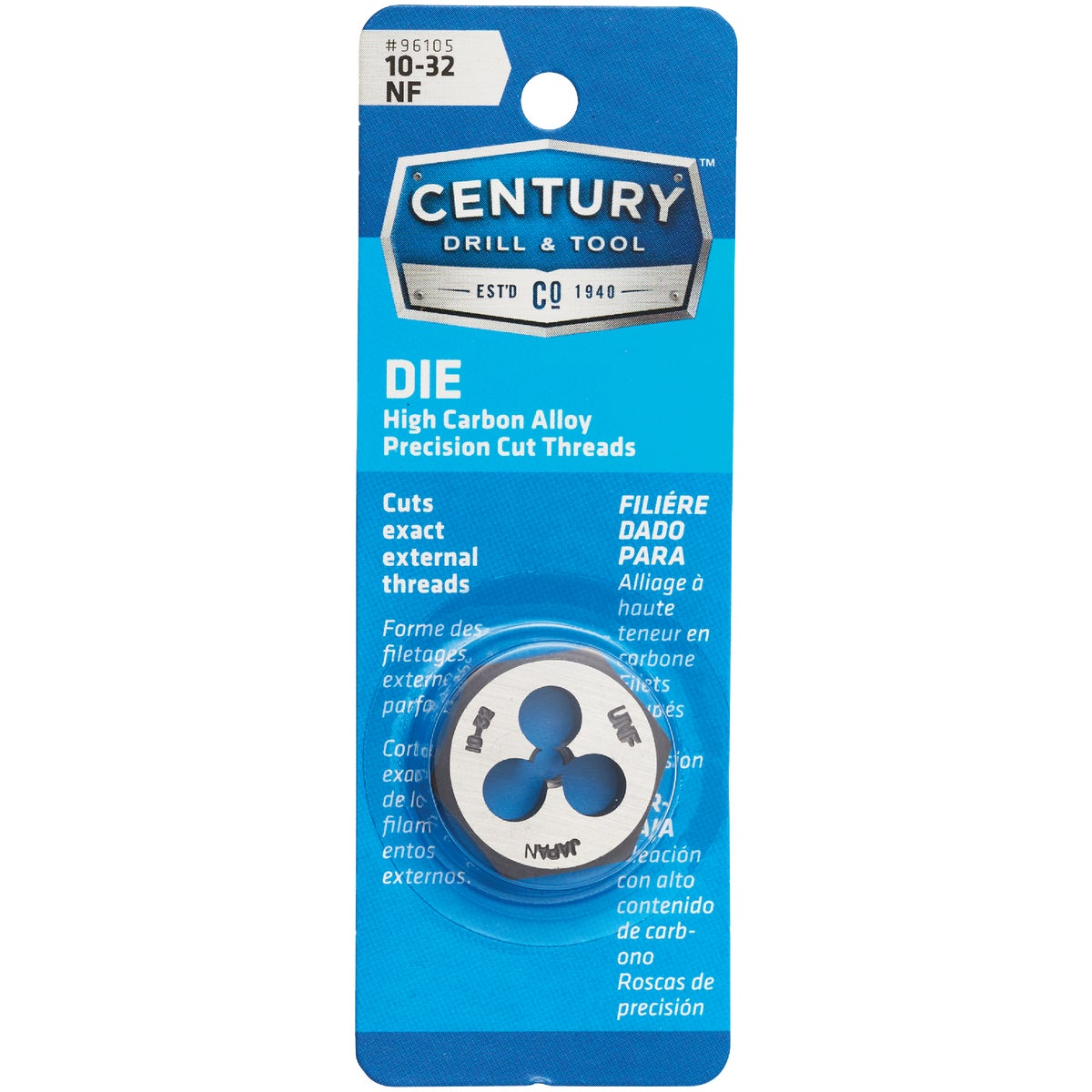10X32 NF HEX DIE - 9331ZR by Irwin Industr Tool