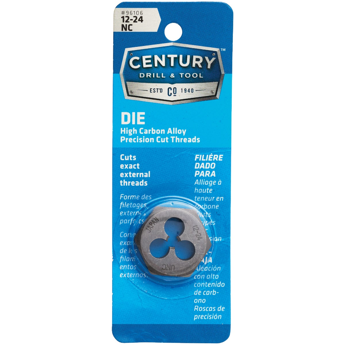 12X24 NC HEX DIE - 9332ZR by Irwin Industr Tool