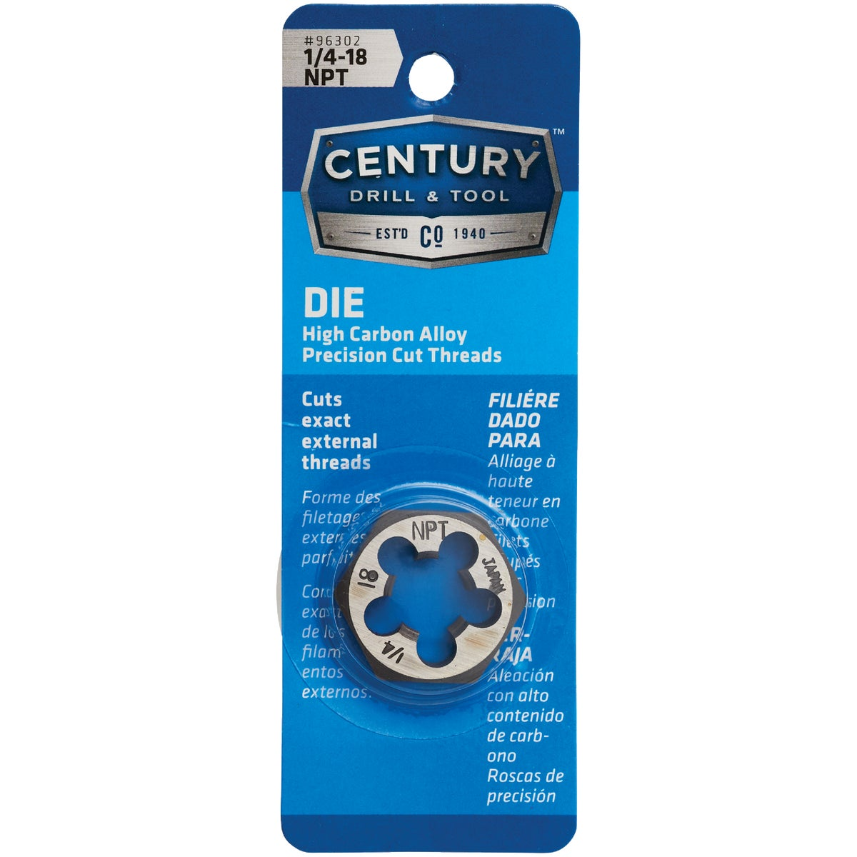 1/4X18 NPT HEX DIE - 9503ZR by Irwin Industr Tool