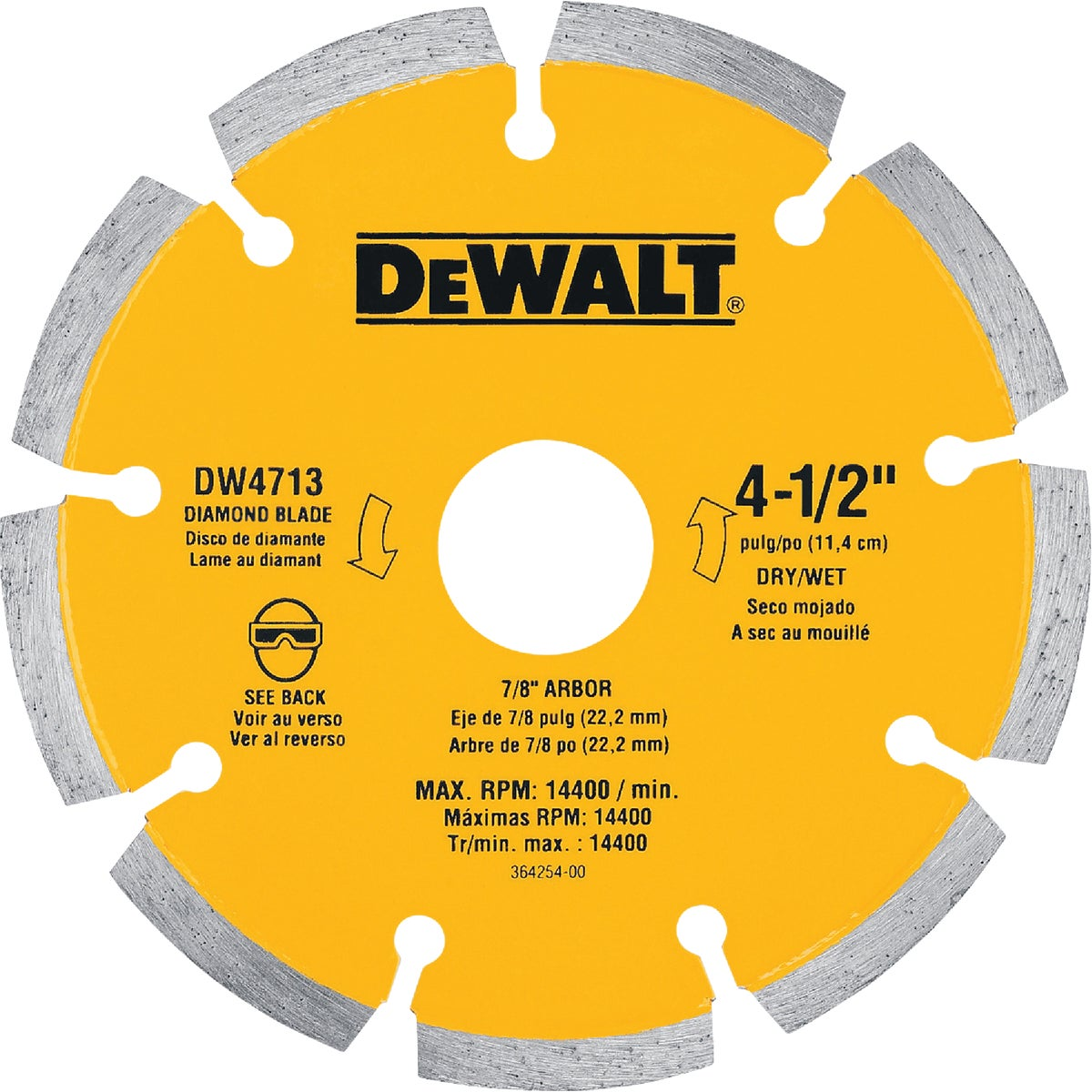 "4-1/2"" DIAMOND BLADE - DW4713B by DeWalt"