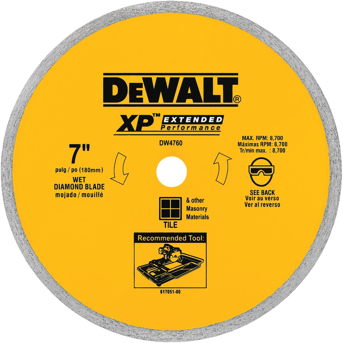 "7"" CERAMIC BLADE - DW4760 by DeWalt"