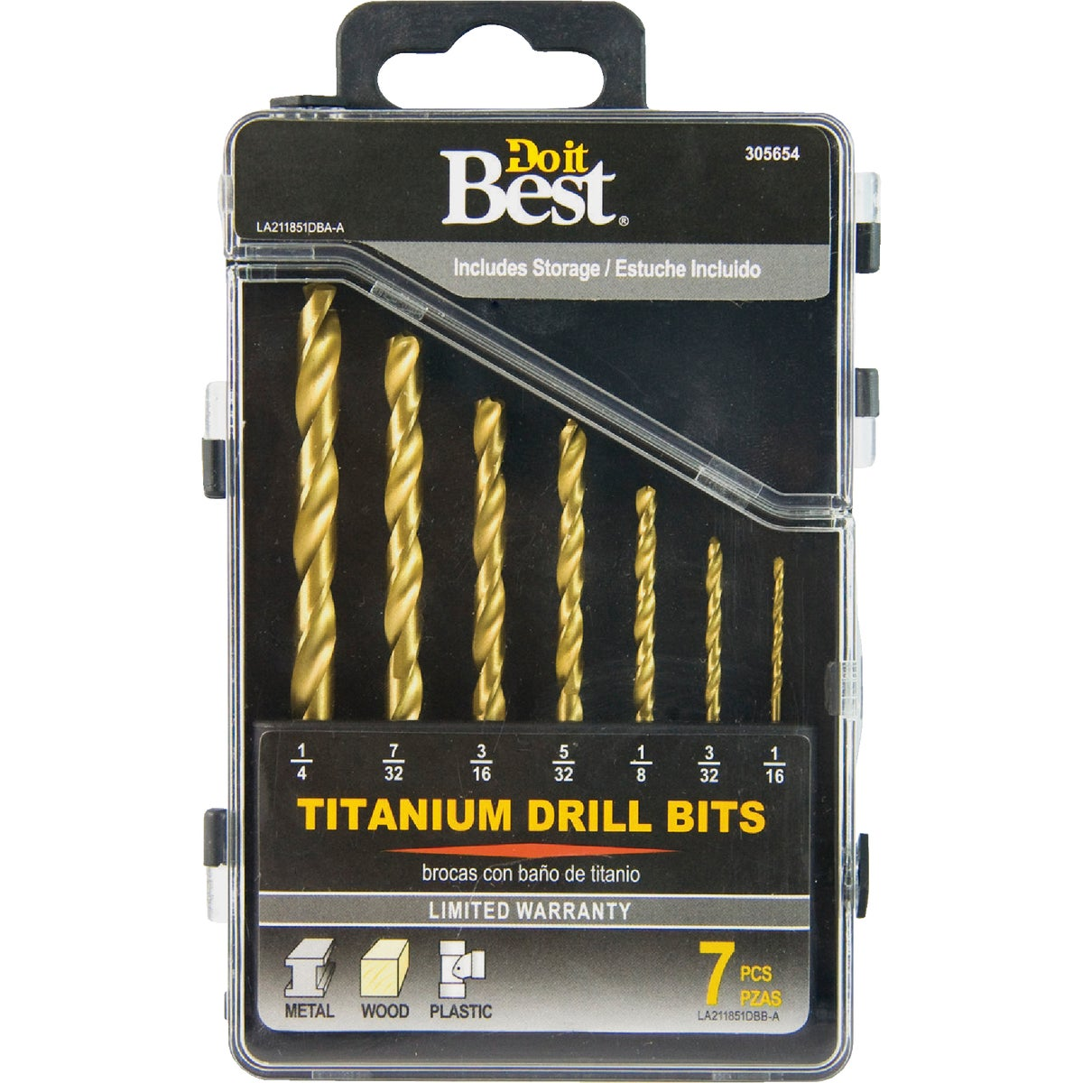 7PC TITANIUM BIT SET - 211851DB by Mibro/gs