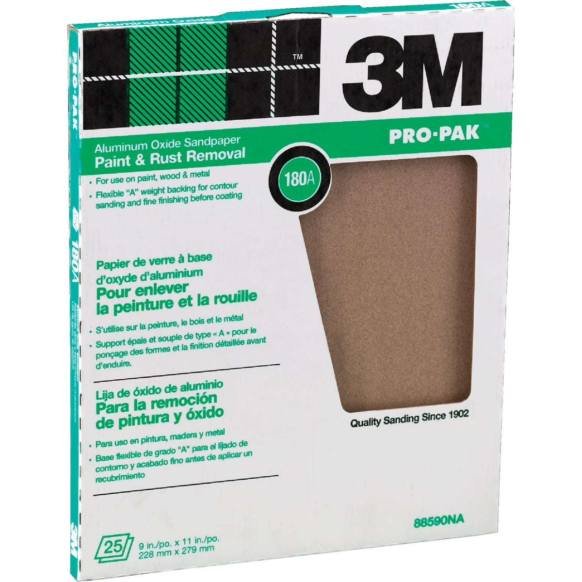 180A PRODUCTIN SANDPAPER - 88590NA by 3m Co